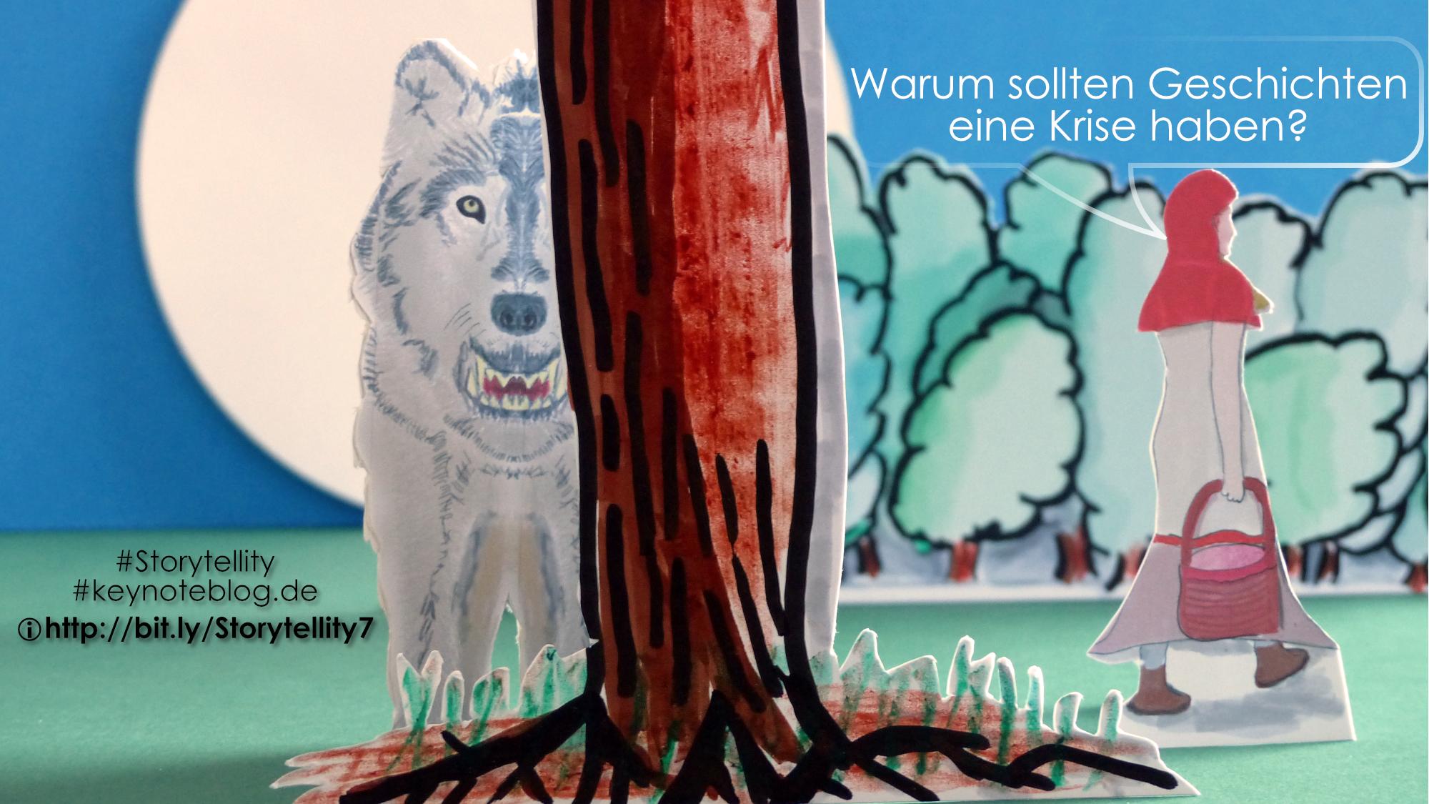 Bild von Rotkäppchen und dem Wolf