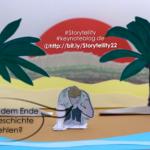 Robinson Crusoe kommt gerade auf seiner Insel an